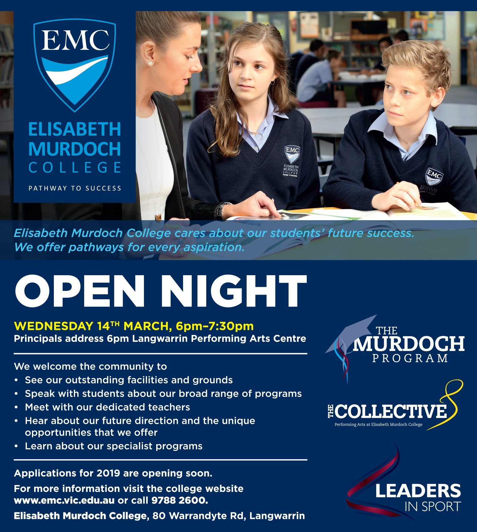 EMC Open Night 2018 Flyer