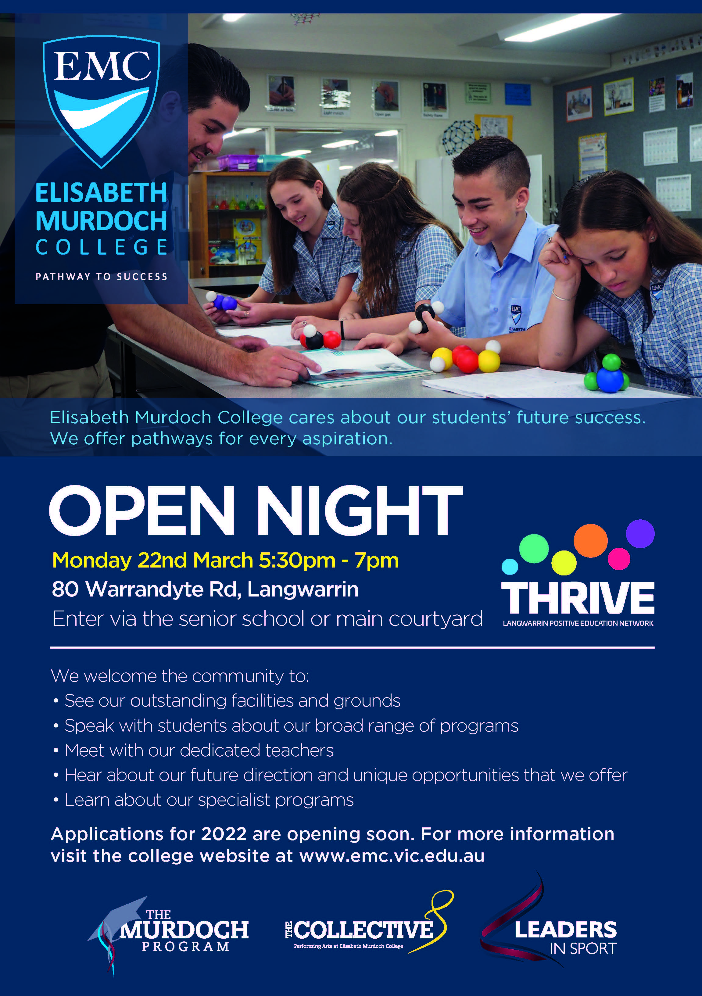 EMC Open Night 2021 Flyer