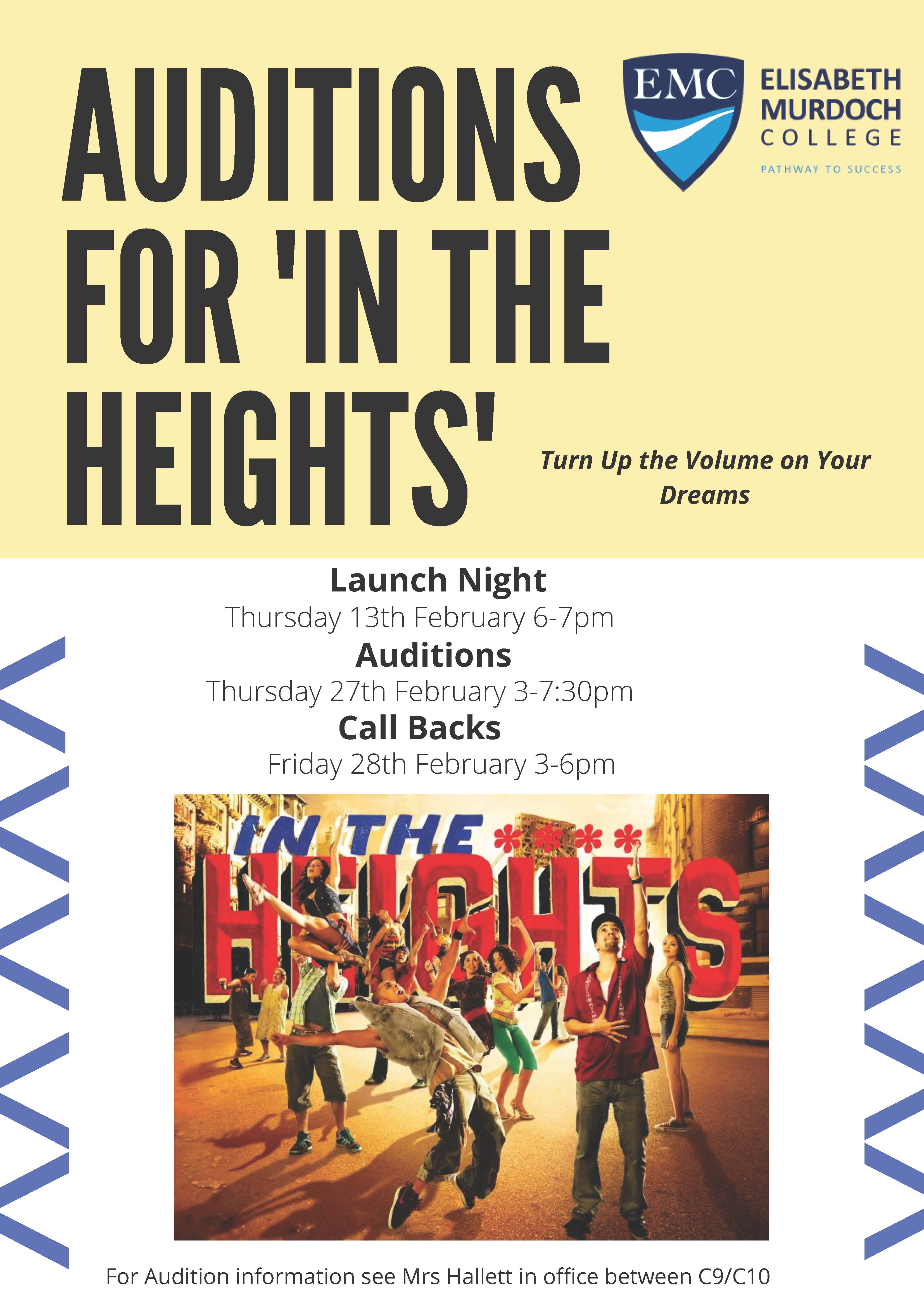 Production Auditions InTheHeights